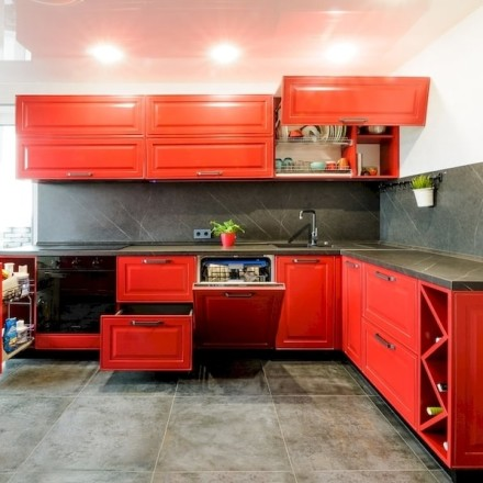 Кухня МДФ в эмали «HYACINTH»