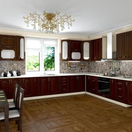 Кухня Платинум Кедр люкс